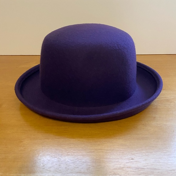 Purple Wool Bucket Hat